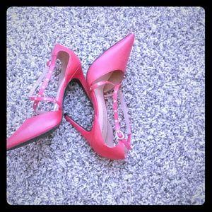 Pencil high heels.